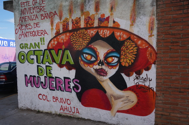 One of Oaxaca's many murals.