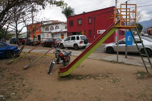 Playground with parking.